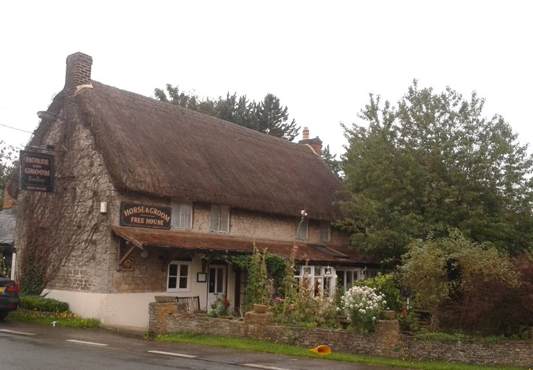 Thatched country pub.